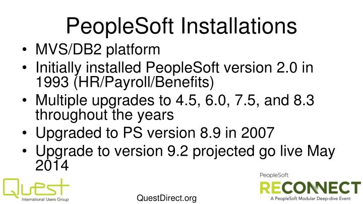 PeopleSoft Installations