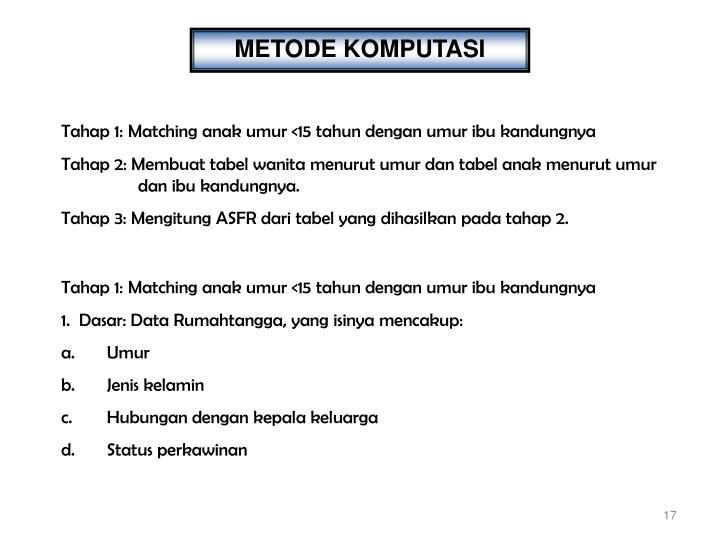 METODE KOMPUTASI