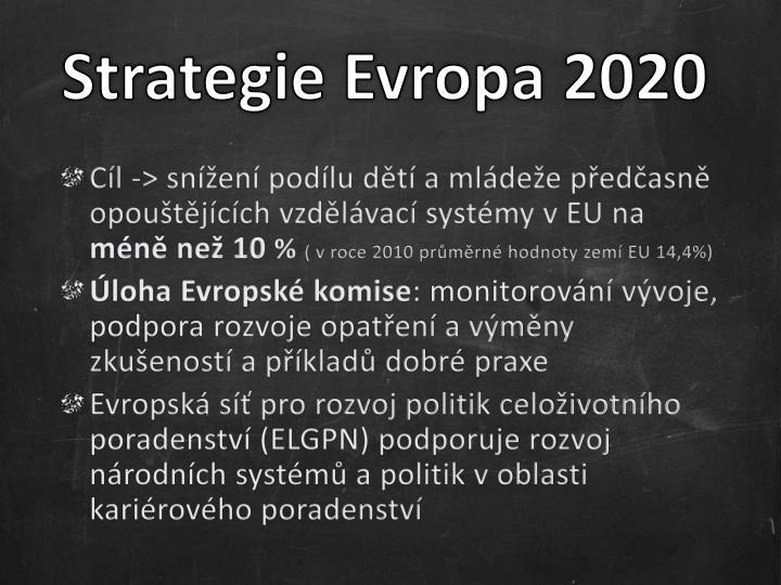 Strategie Evropa 2020