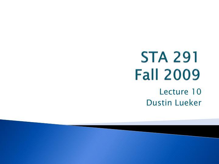 STA 291