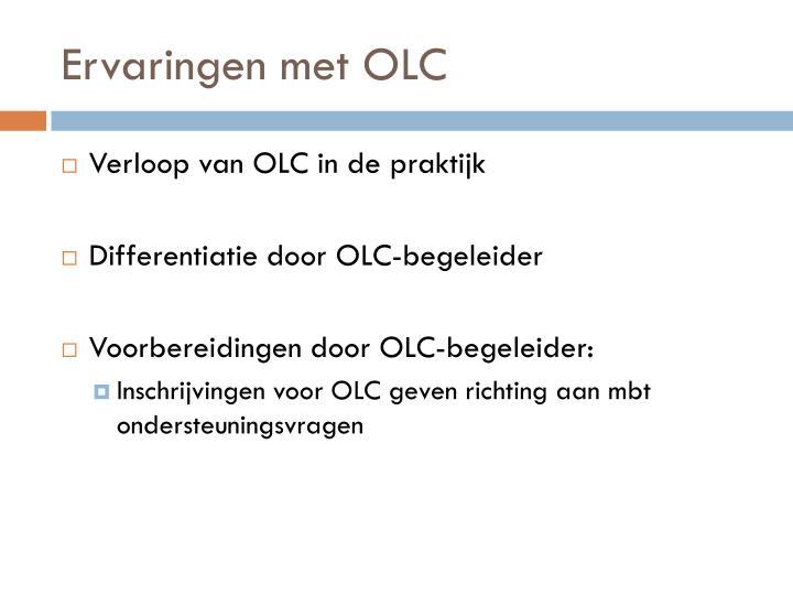 Ervaringen met OLC