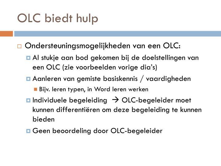 OLC biedt hulp