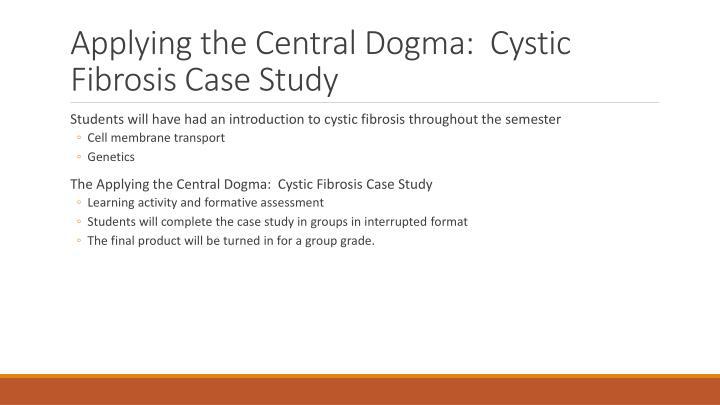 pediatric cystic fibrosis case study