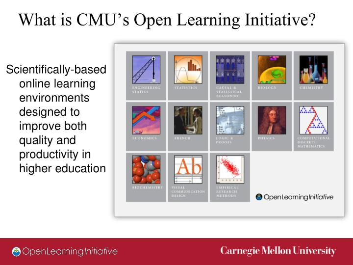 What is CMU's Open Learning Initiative?