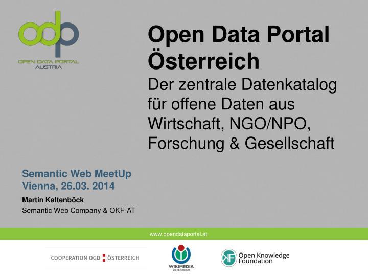 Open Data Portal Österreich