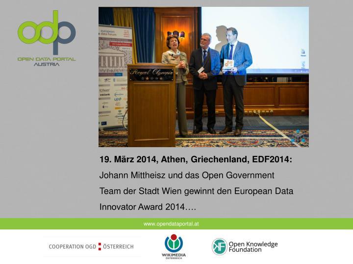 19. März 2014, Athen, Griechenland, EDF2014: