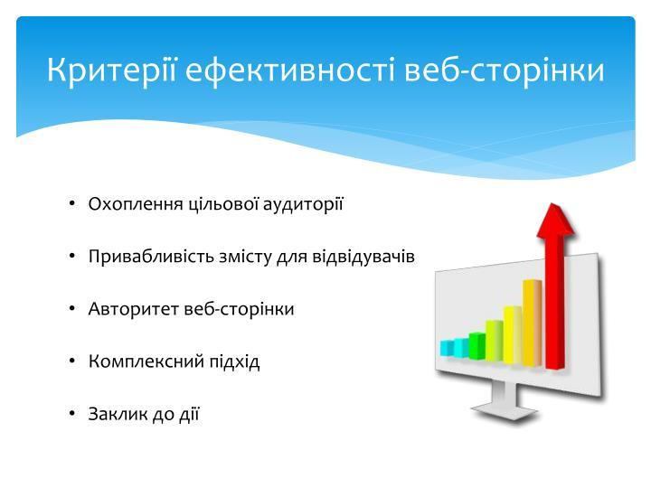 Критерії ефективності