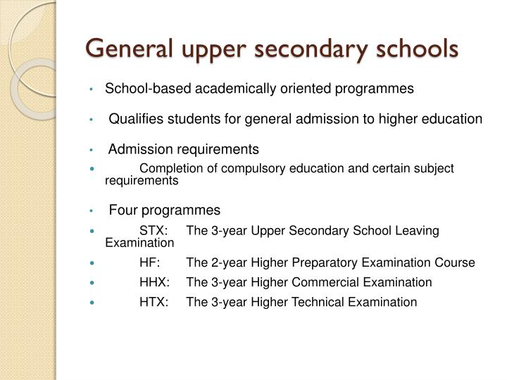 General upper secondary schools