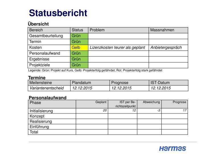 Statusbericht