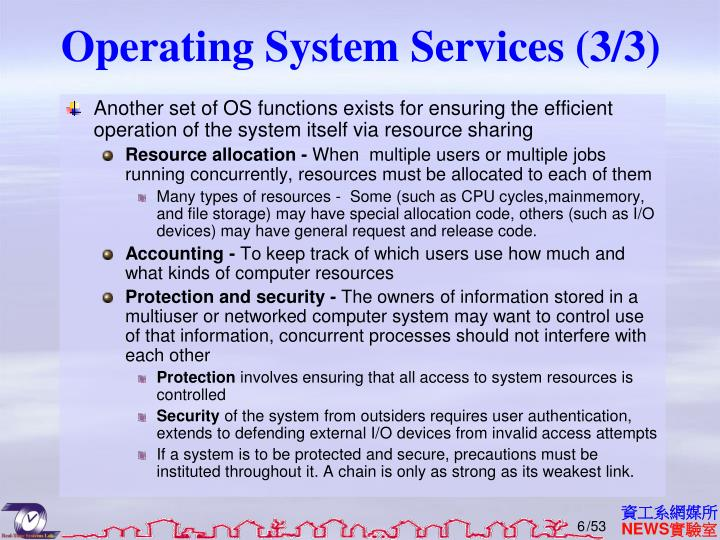 Operating System Services (3/3)