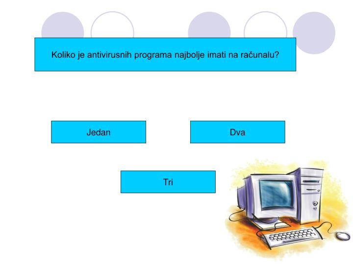 Koliko je antivirusnih programa najbolje imati na računalu?