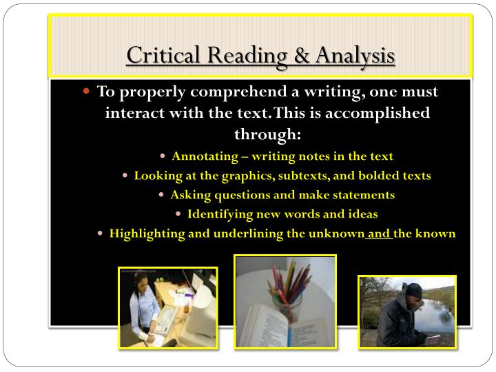 Critical Reading & Analysis