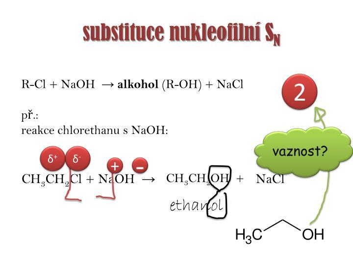 substituce nukleofilní