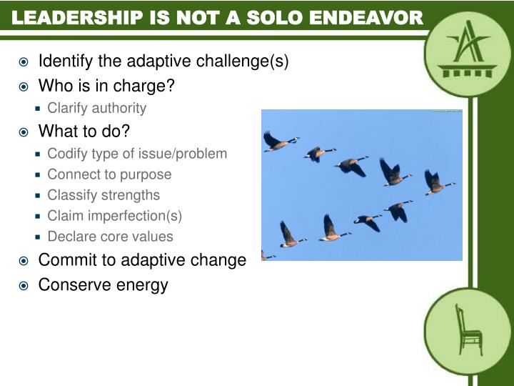 Leadership is not a solo endeavor