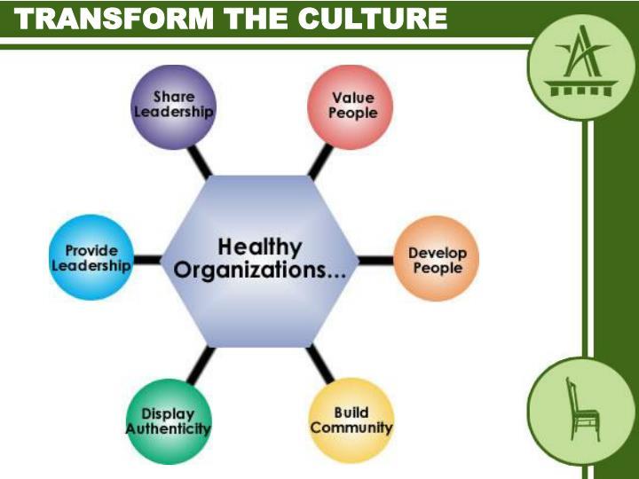Transform the culture