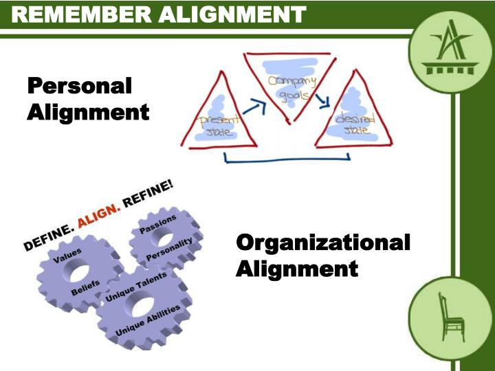 Remember alignment