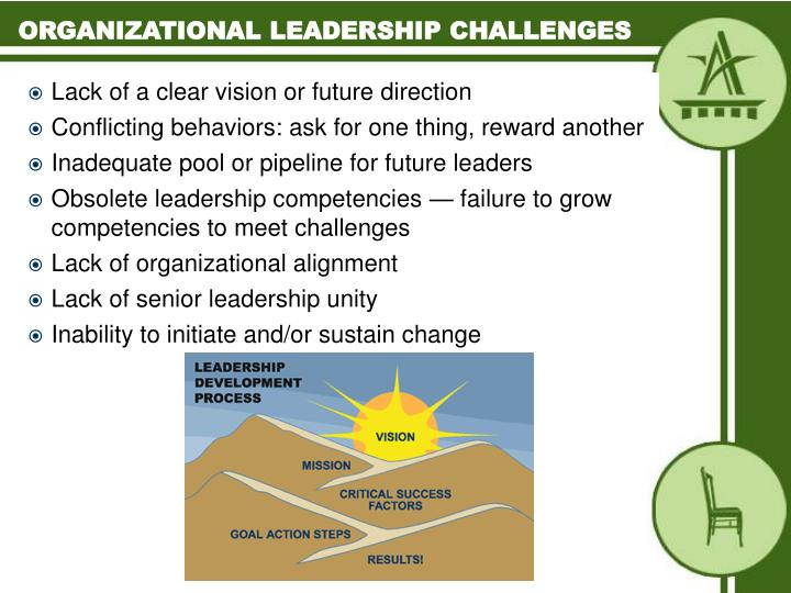 Organizational leadership challenges