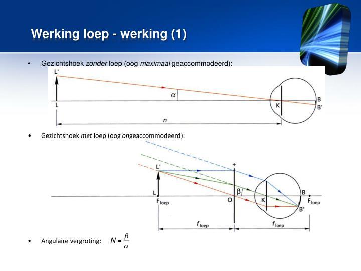 Werking loep - werking (1)