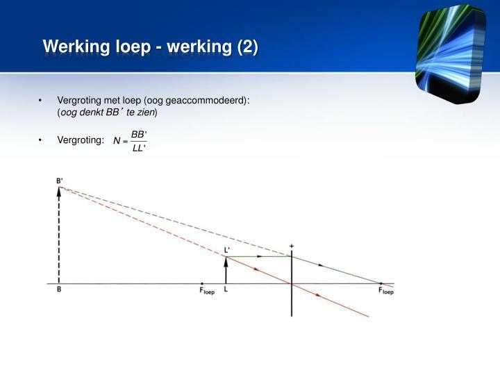 Werking loep - werking (2)