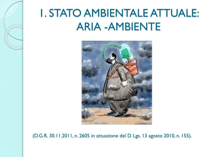 1. STATO AMBIENTALE ATTUALE: ARIA -AMBIENTE
