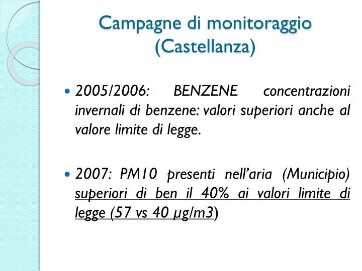 Campagne di monitoraggio (Castellanza)