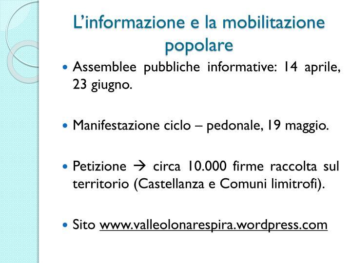 L'informazione e la mobilitazione popolare