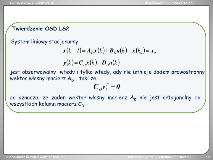 Twierdzenie OSD LS2