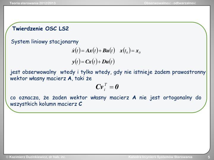 Twierdzenie OSC LS2