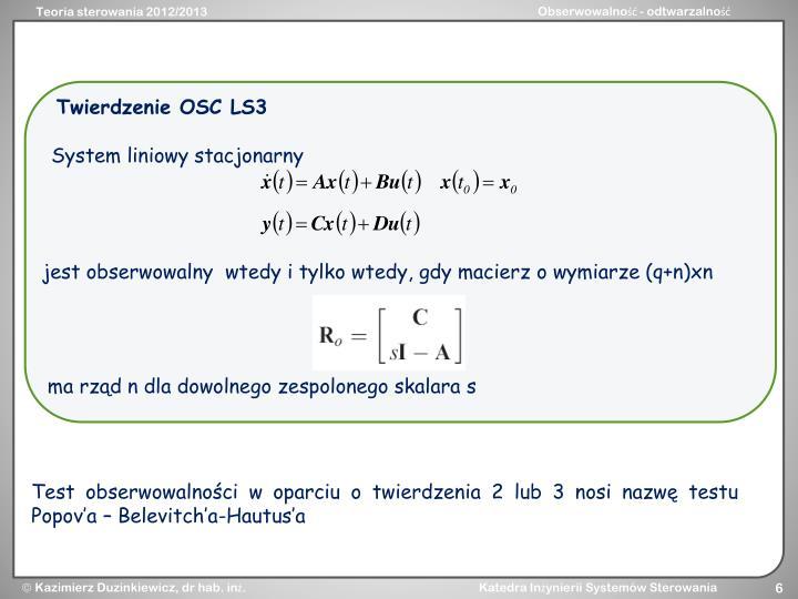 Twierdzenie OSC LS3