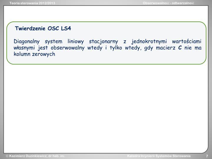 Twierdzenie OSC LS4