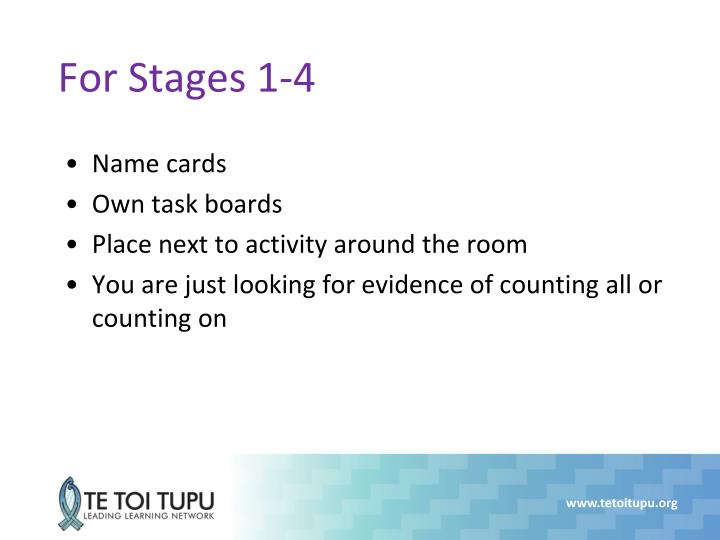 For Stages 1-4