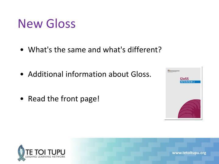 New Gloss