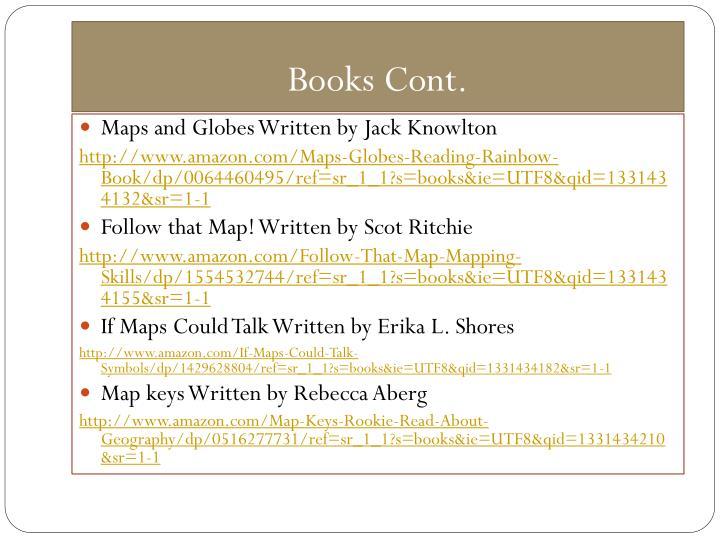 Books Cont.