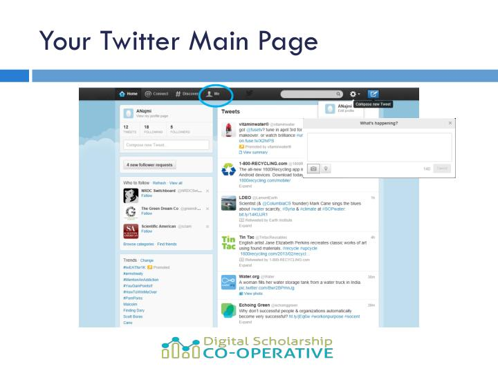 Your Twitter Main Page