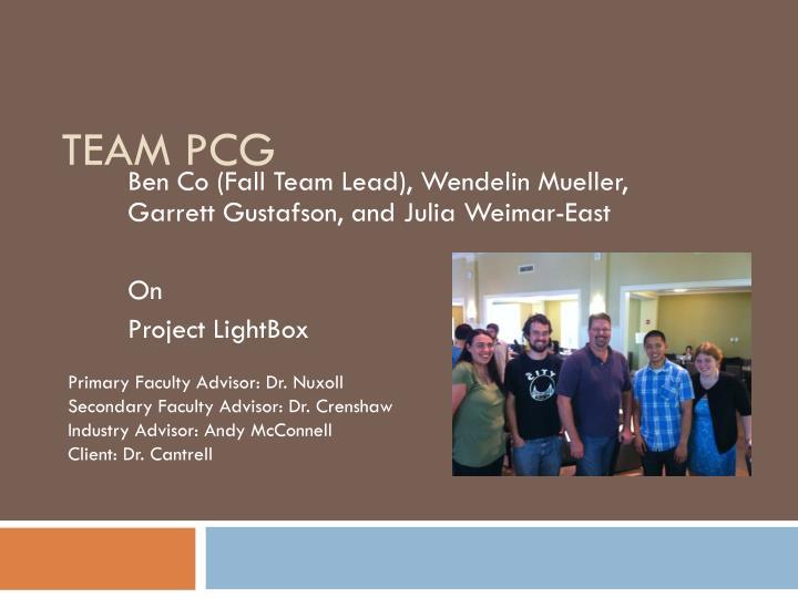 Team PCG