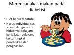 merencanakan makan pada diabetisi