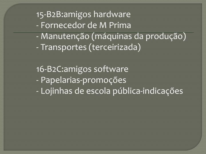 15-B2B:amigos hardware