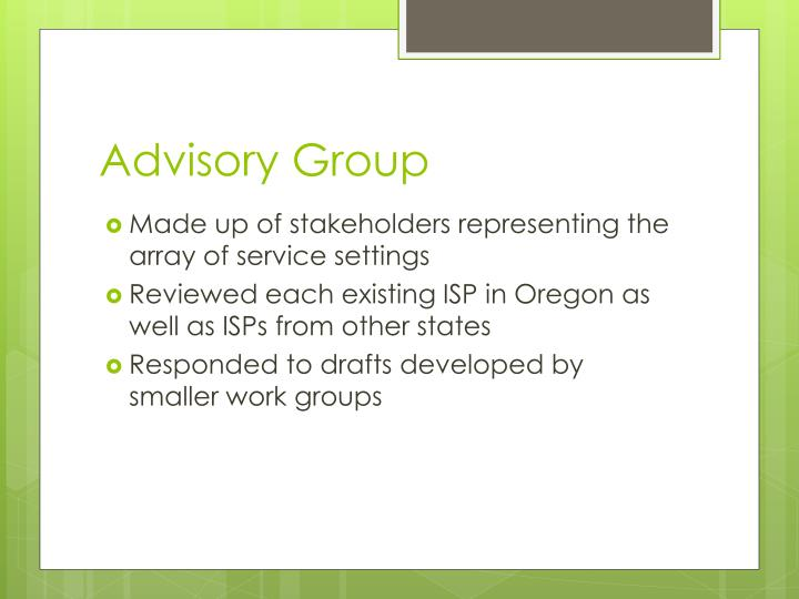 Advisory Group
