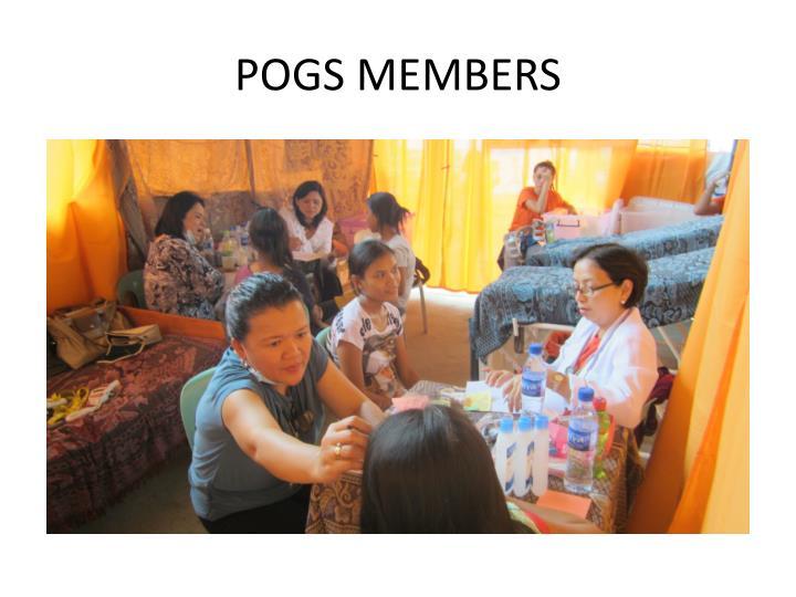 POGS MEMBERS