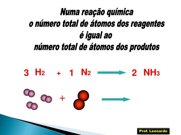Numa reação química