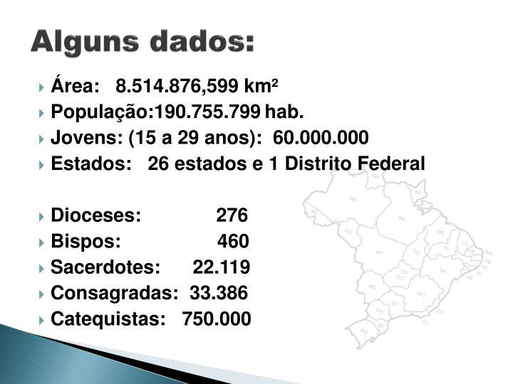 Alguns dados: