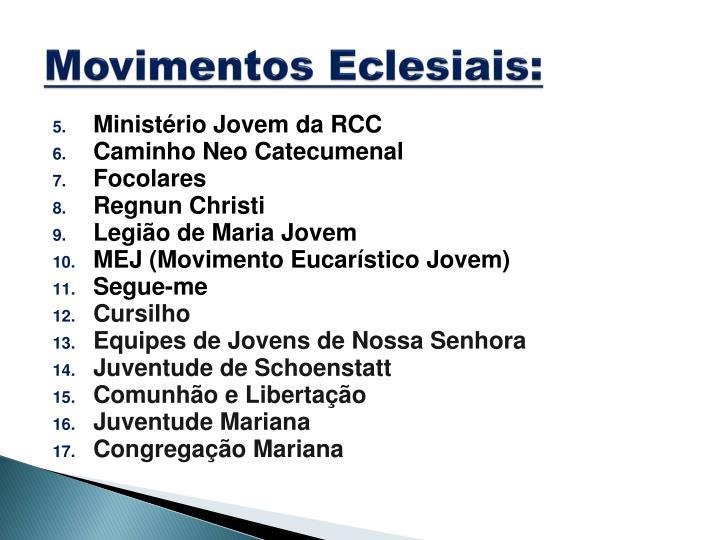 Movimentos Eclesiais: