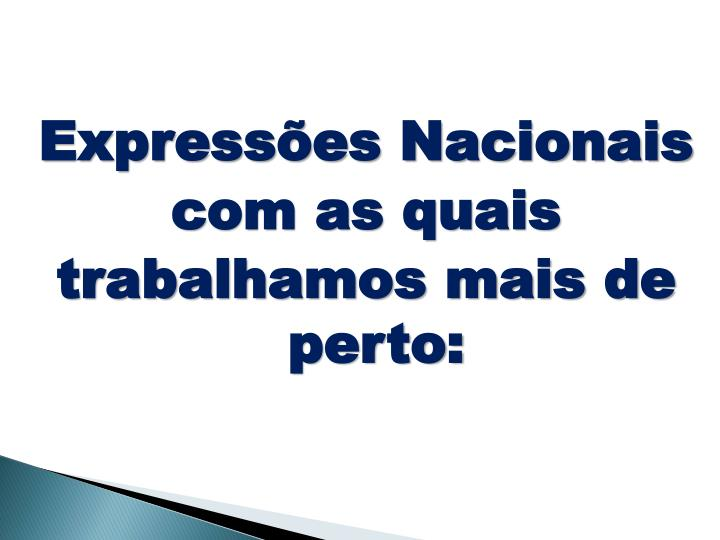 Expressões Nacionais