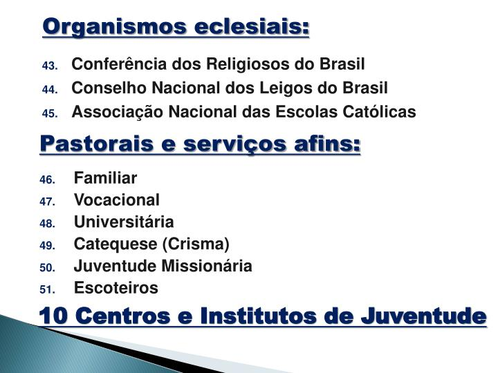 Organismos eclesiais: