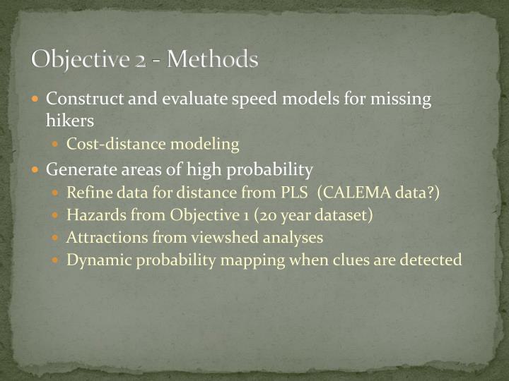 Objective 2 - Methods