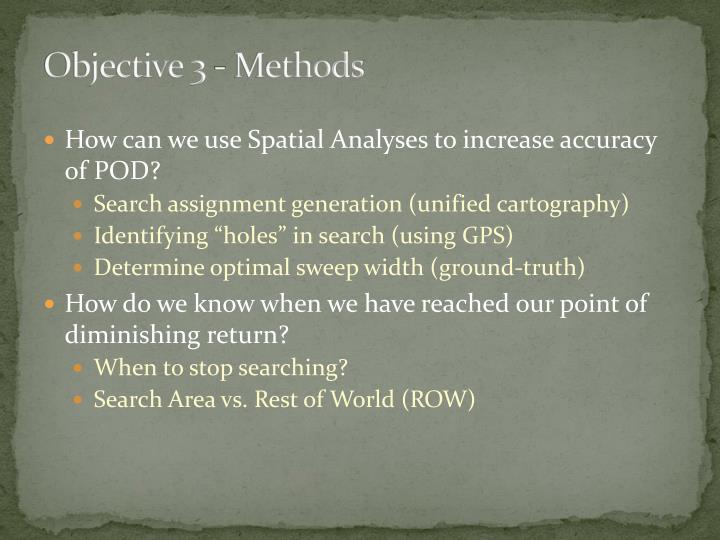 Objective 3 - Methods