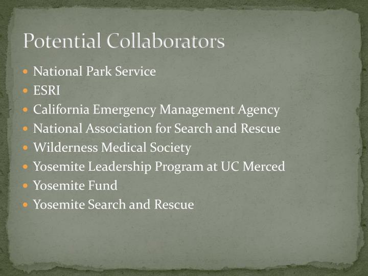 Potential Collaborators