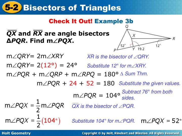 XR is the bisector of