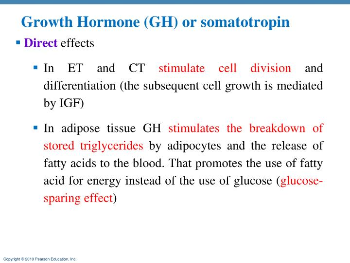 Growth Hormone (GH) or somatotropin
