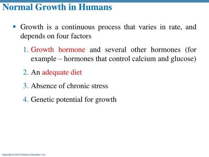Normal Growth in Humans